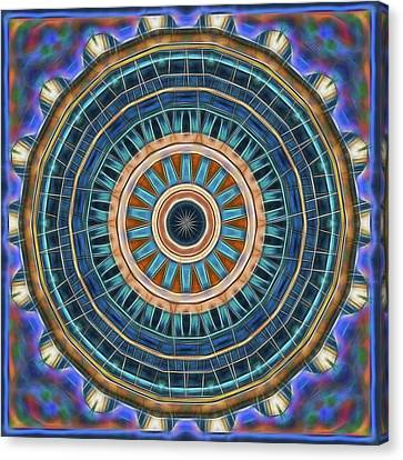 Canvas Print featuring the digital art Blue Wheeler 2 by Wendy J St Christopher
