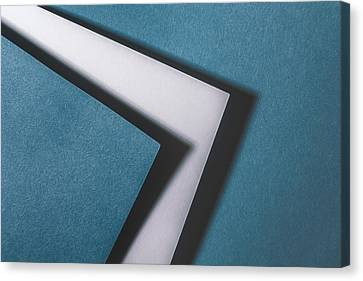 Blue White Blue Canvas Print