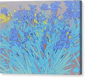Blue Wild Irises Canvas Print