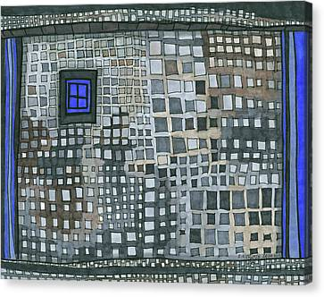 Blue Blue Windows Canvas Print by Sandra Church