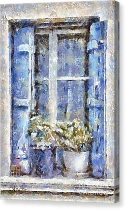 Blue Window Canvas Print by Shirley Stalter