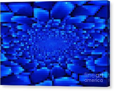 Blue Windows Abstract Canvas Print by Carol Groenen