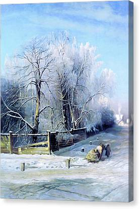 Blue Winter Days Canvas Print by Georgiana Romanovna