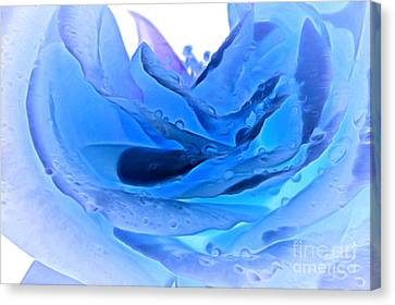 Blue Winter Canvas Print by Krissy Katsimbras