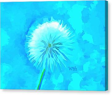 Blue Wishes Canvas Print by Krissy Katsimbras