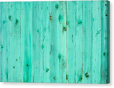 Canvas Print featuring the photograph Blue Wooden Planks by John Williams