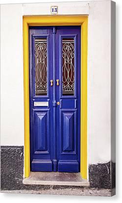 Blue Yellow Door Canvas Print