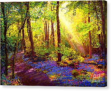 Tranquil Canvas Print - Bluebell Blessing by Jane Small