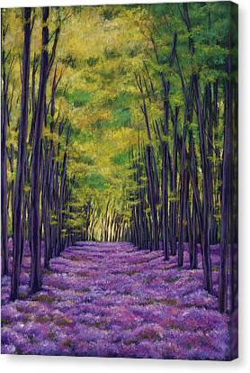 Expressionistic Canvas Print - Bluebell Vista by Johnathan Harris