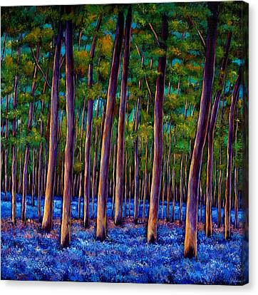 Realistic Canvas Print - Bluebell Wood by Johnathan Harris