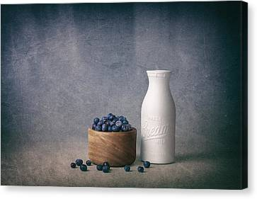 Blueberries And Cream Canvas Print by Tom Mc Nemar