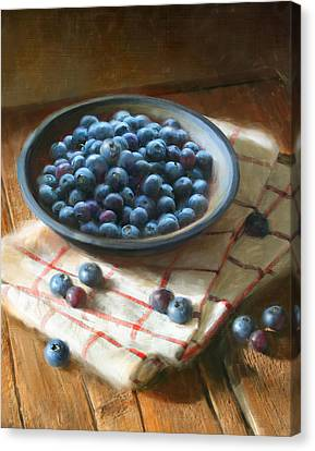 Blueberries Canvas Print by Robert Papp