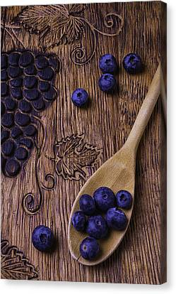Blueberries With Carvings  Canvas Print