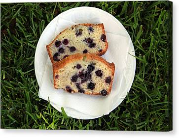 Blueberry Bread Canvas Print by Linda Woods