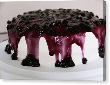 Blueberry Cake Canvas Print by Lori Deiter