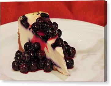 Blueberry Cheesecake Canvas Print by Lori Deiter