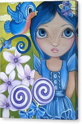 Blueberry Canvas Print by Jaz Higgins