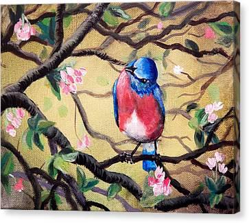 Bluebird By Gretchen Smith Canvas Print by Gretchen  Smith