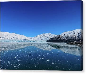 Bluebird Day At Hubbard Glacier Canvas Print