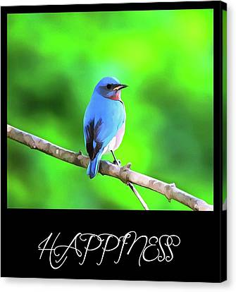 Singing Canvas Print - Bluebird Happiness by Dan Sproul
