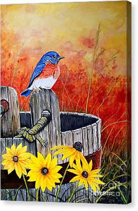 Bluebird Spring  Canvas Print