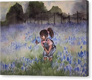 Bluebonnet Cutie Canvas Print