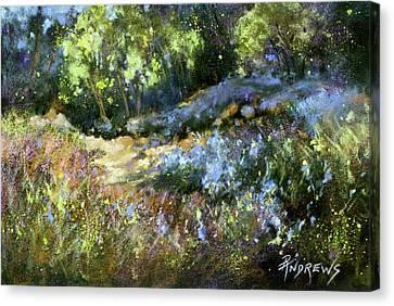Bluebonnet Dazzle Canvas Print by Rae Andrews