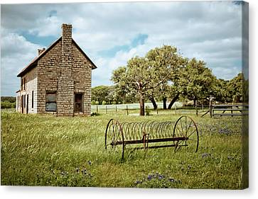 Old Country Roads Canvas Print - Bluebonnet Dreams by Linda Unger
