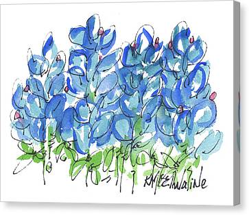 Bluebonnet Dance Whimsey,by Kathleen Mcelwaine Southern Charm Print Watercolor, Painting, Canvas Print