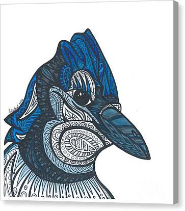 Bluejay Canvas Print - Bluejay Bird by Allie Rowland