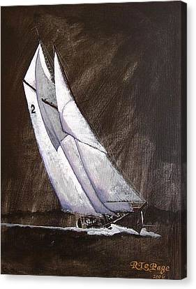 Bluenose Canvas Print - Bluenose At Night Coming by Richard Le Page