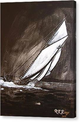 Bluenose Canvas Print - Bluenose At Night Going by Richard Le Page
