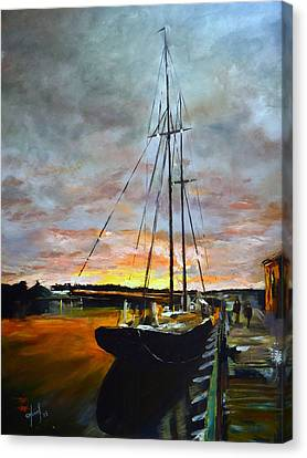 Bluenose Canvas Print - Bluenose II At Dock by Josef Kelly