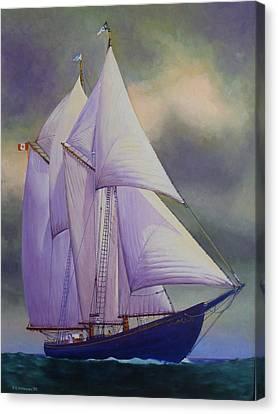 Bluenose Canvas Print - Bluenose II by Karsten Kittelsen