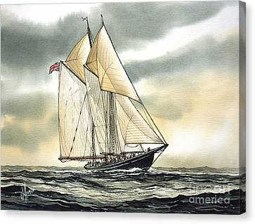 Tall Ship Image Canvas Print - Bluenose  by James Williamson