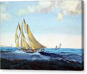 Bluenose Canvas Print - Bluenose by Richard Le Page