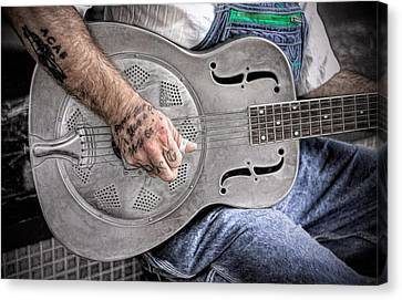 Blues And Tattoos Canvas Print