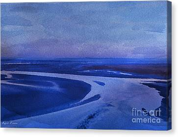Blues At Mount St Michael Canvas Print by Karo Evans