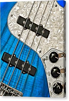 Blues Bass Canvas Print by William Jobes