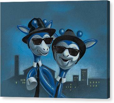 Blues Boys Canvas Print