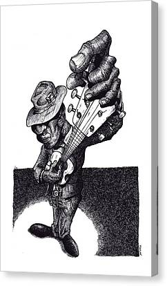 Blues Guitar Canvas Print by Tobey Anderson