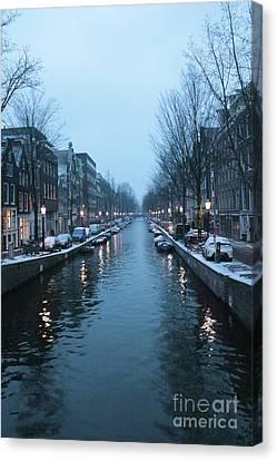 Blues In Amsterdam Canvas Print by Carol Groenen
