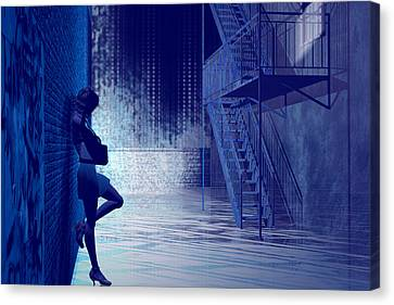 Fire Escape Canvas Print - Blues In The Night by Carol and Mike Werner