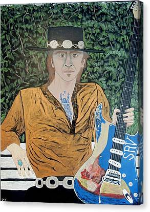 Blues In The Park With Stevie Ray Vaughan. Canvas Print