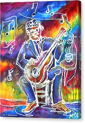 Blues Man Canvas Print by M c Sturman