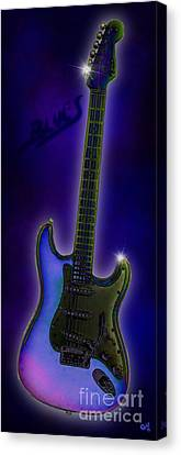 Canvas Print featuring the digital art Blues  by Nick Gustafson