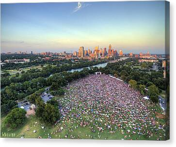 Blues On The Green With Bob Schneider Canvas Print by Andrew Nourse
