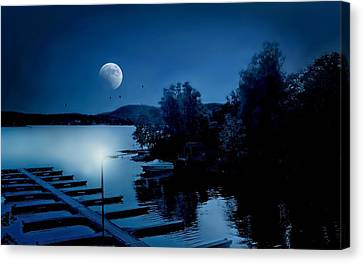 Litchfield County Canvas Print - Blues On The Lake by Diana Angstadt