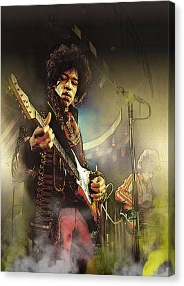 Blues-rock Power Canvas Print by Don Kuing