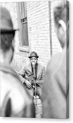 Blues Singer 2 Canvas Print by Ronald Watkins